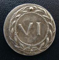 Spintria VI_ Tessère Spintrienne Pompéi, Jeton Romain De Lupanar_ 1er S.ap JC Repro. - Romeins