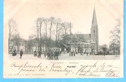 Arnhem (Gelderland- Holland)-1900-Velperplein-Kerk-Uitg. Mevr. A.M. Amiot ,'S Gravenhage-cachet Arnhem-Gosselies - Arnhem