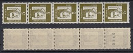 Bund 347y 5er Streifen Gerade Nr. Bedeutende Deutsche 5 Pf Postfrisch - BRD