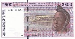 BILLET-BANQUE CENTRALE DES ETATS DE L'AFRIQUE DE L'OUEST 2500 Fr-cfa MALI Lettre (D) - Mali