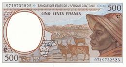 BILLET-BANQUE  DES ETATS DE L'AFRIQUE CENTRALE 500 Fr CONGO (Lettre C) - Zonder Classificatie