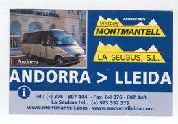 CdV ° _ Transports-Andorre-Autocars-La Seubus-Lleida - Tarjetas De Visita