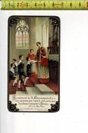 Kl 3720 - SOUVENIR DE LA COMMUNION SOLENNELLE DE ANDRE KEIRLE A BAILLEUL 1933 - Santini