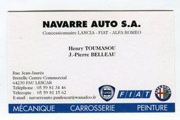 CdV °_ Auto-64-Lescar-concession  Lancia.Fiat.Alfa - Tarjetas De Visita