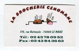 CdV °_ Brocherie-72-Le Mans-La Brocherie Cenomane - Cartes De Visite
