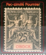 Fac-Similé Fournier Du N°39**-Tres Bon Centrage - Obock (1892-1899)