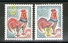 N° 1331A°_variété Col Rouge Et Blanc Sur Patte - Usados