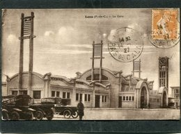 CPA - LENS - La Gare, Animé - Automobiles - Lens