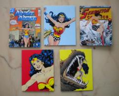 Lot 5 Cartes Doubles WONDER WOMAN / DC Comics / Super Héros - Bandes Dessinées