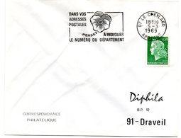ARDECHE - Dépt N° 07 = LE CHEYLARD 1969 = FLAMME SECAP ' PENSEZ à INDIQUER NUMERO DEPARTEMENT ' - Code Postal