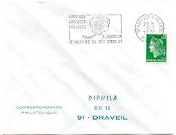 ARDECHE - Dépt N° 07 = GRANGES Les VALENCE 1970 = FLAMME SECAP ' PENSEZ à INDIQUER NUMERO DEPARTEMENT ' - Codice Postale