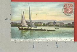 CARTOLINA VG SVIZZERA - La Rade De GENEVE GINEVRA - 9 X 14 - 1907 - GE Geneva