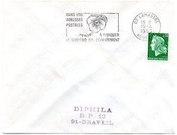 ARDECHE - Dépt N° 07 = LAMASTRE 1969 = FLAMME SECAP ' PENSEZ à INDIQUER NUMERO DEPARTEMENT ' - Codice Postale