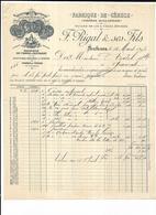 Haute Garonne 31 Toulouse MAISON F.RIGAL & SES FILS, FABRIQUE DE CERUSE E GAUBERT Et PEGOT  1893 - 1800 – 1899