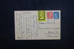 ALLEMAGNE - Crate Postale De Hamburg Par Avion Pour La France En 1928 , Affranchissement Plaisant - L 51828 - Briefe U. Dokumente