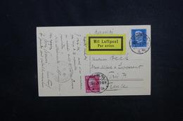 ALLEMAGNE - Carte Postale De Hamburg Par Avion Pour La France En 1928 , Affranchissement Plaisant - L 51829 - Briefe U. Dokumente