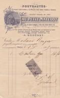 PARIS AU PETIT MATELOT VETEMENTS YACHTING ROWING CHASSE PECHE  ANNEE 1896 - France