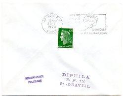 ARIEGE - Dépt N° 09 = FOIX RP 1970 = FLAMME à DROITE = SECAP ' PENSEZ à INDIQUER NUMERO DEPARTEMENT ' - Codice Postale