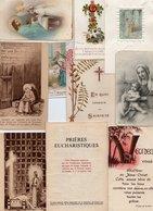 Lot De 15 Objets - 1 Carnet, 10 Images Pieuses, 4 Cartes Postales - 2 Scan. - Religion & Esotérisme