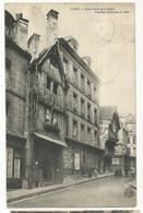 CPA , D.14, Caen - Rue Porte Au Berger , Vieilles Maisons En Bois, Animée , Ed. P.R 1908 - Caen