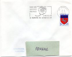 ARIEGE - Dépt N° 09 = PAMIERS 1968 = FLAMME SECAP ' PENSEZ à INDIQUER NUMERO DEPARTEMENT ' - Code Postal