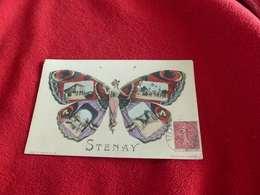 79 - CPA , Stenay, Papillon Art Nouveau, Multivue - Stenay