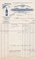 MONTROUGE BONNYAUD LA FRAISETTE DISTILLERIES GAULOISE DE GENTILLY AVEC CACHET ANNEE 1921 - Francia