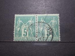 VEND BEAUX TIMBRES DE FRANCE N° 75 EN PAIRE !!! (a) - 1876-1898 Sage (Type II)