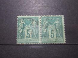 VEND BEAUX TIMBRES DE FRANCE N° 75 EN PAIRE !!! (b) - 1876-1898 Sage (Type II)