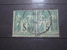 VEND BEAUX TIMBRES DE FRANCE N° 75 EN PAIRE !!! (d) - 1876-1898 Sage (Type II)