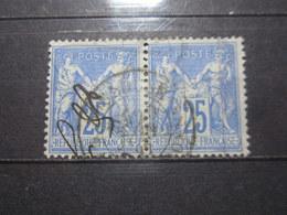 VEND BEAUX TIMBRES DE FRANCE N° 78 EN PAIRE !!! - 1876-1898 Sage (Type II)