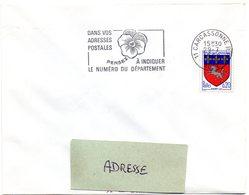 AUDE - Dépt N° 11 = CARCASSONNE RP 1968 = FLAMME SECAP ' PENSEZ à INDIQUER NUMERO DEPARTEMENT ' - Codice Postale