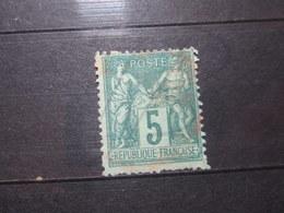 VEND BEAU TIMBRE DE FRANCE N° 75 , CACHET ROUGE !!! (b) - 1876-1898 Sage (Type II)