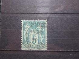 "VEND BEAU TIMBRE DE FRANCE N° 75 , OBLITERATION "" BESANCON "" !!! - 1876-1898 Sage (Type II)"