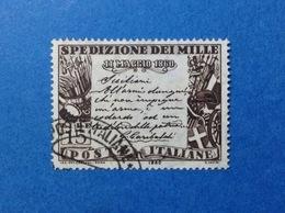 1960 ITALIA GARIBALDI SPEDIZIONE DEI MILLE 15 LIRE FRANCOBOLLO USATO ITALY STAMP USED - 1946-60: Usati