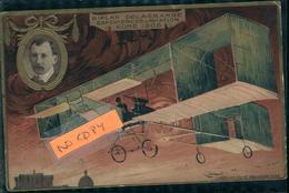 Aviation Aviateur Et Avion  DELAGRANGE  Carte Gaufrée Collection Lefèvre Utile - Aviateurs