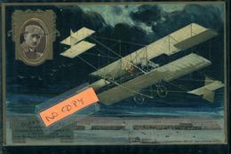 Aviation Aviateur Et Avion  Glen H CURTISS  Carte Gaufrée Collection Lefèvre Utile - Aviateurs