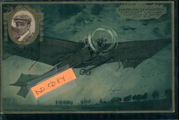 Aviation Aviateur Et Avion Hubert LATHAM  Carte Gaufrée Collection Lefèvre Utile - Aviateurs