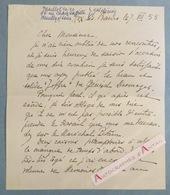 L.A.S 1955 Général WEYGAND Aix Les Bains - Joffre - Général Desmazes Maréchal Pétain Héring - Lettre Autographe - Autographes