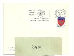 BOUCHES Du RHONE - Dépt N° 13 = MARSEILLE CINQ AVENUES 1967 = FLAMME SECAP 'PENSEZ à INDIQUER NUMERO DEPARTEMENT - Codice Postale