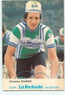 Christian POIRIER . 2 Scans. Cyclisme. La Redoute Motobecane 1980 - Cycling