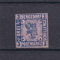 Bergedorf - 1861/67 - Michel Nr. 4 - Geprüft - Ungebr. - 30 Euro - Bergedorf