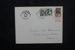 """ALGÉRIE - Oblitération """" Tadjmout Oasis """" Sur Enveloppe En 1962 Pour Marseille - L 51840 - Algeria (1924-1962)"""