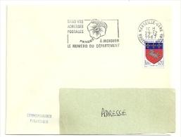 BOUCHES Du RHONE - Dépt N° 13 = MARSEILLE GARE 1967 = FLAMME Non Codée = SECAP 'PENSEZ à INDIQUER NUMERO DEPARTEMENT - Codice Postale