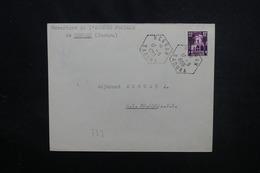 """ALGÉRIE - Oblitération  Du 1er Jour De L 'Agence De """" Reggan Saoura """" Sur Enveloppe En 1959 Pour SP 88.650  - L 51841 - Algérie (1924-1962)"""
