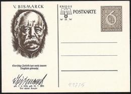 Germania/Germany/Allemagne: Intero, Stationery, Entier, Otto Von Bismark - Celebrità