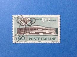 1960 ITALIA GIOCHI OLIMPICI OLIMPIADE ROMA 60 LIRE FRANCOBOLLO USATO ITALY STAMP USED - 1946-60: Usati