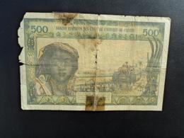 NIGER : 500 FRANCS   ND  (signature 8)    P 602Hj     AB - Niger