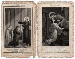 Lot De 2 Images Pieuses Dentelées - Datées Avant 1900 - 2ième Choix - - Religion & Esotérisme