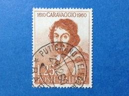 1960 ITALIA MICHELANGELO MERISI CARAVAGGIO FRANCOBOLLO USATO ITALY STAMP USED - 1946-60: Usati